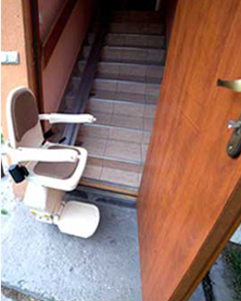 Egyenes lépcsőlift, egyenes széklift